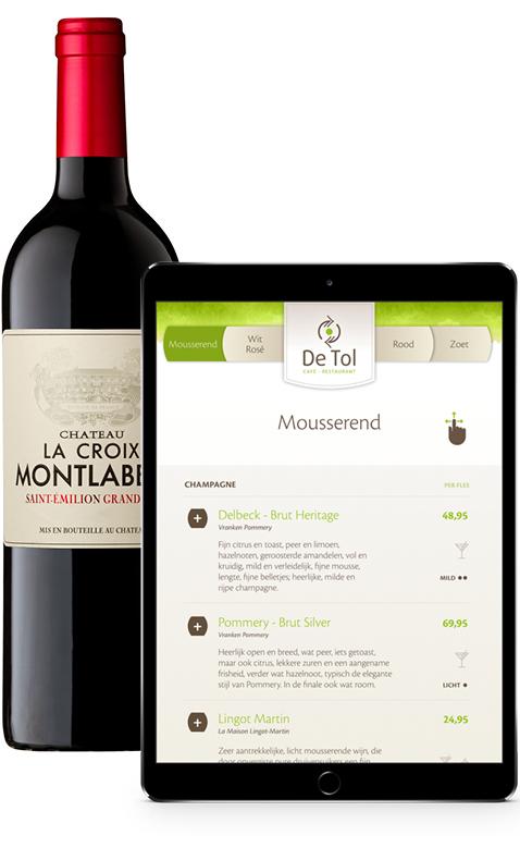 iPad wijnkaart